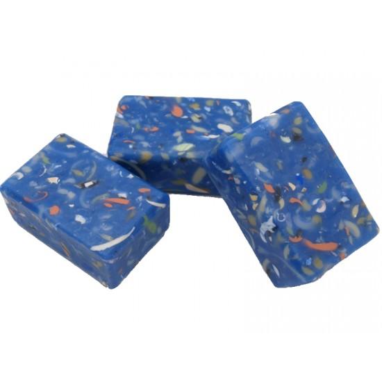 Blue mosaic soap