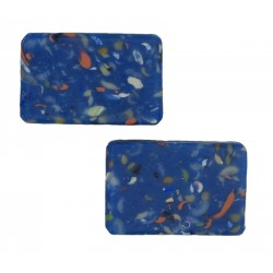 Blue mosaic soap