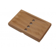 Spruce wood soap dish