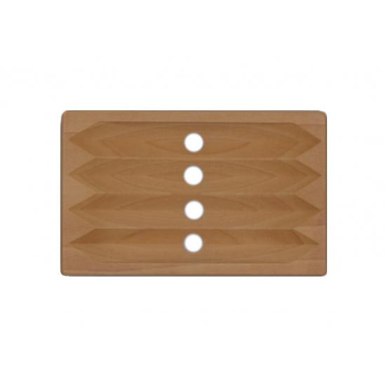 Spruce wood soap dish