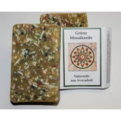 Green Mosaic Avocado Soap